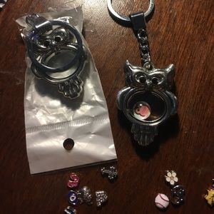 Jewelry - Floating Charm Keychains X2 FREE Charms W/Purchase