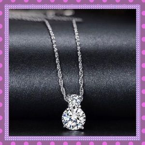 Boutique Jewelry - 🔥SS Natural Cubic Zirconia Pendant Necklace🔥