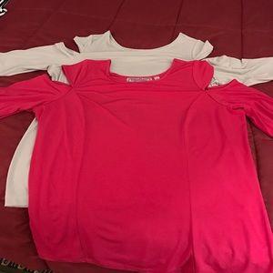 George Simonton Tops - Simonton Says-Lot of 2 Cold Shoulder blouses Large