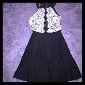 Teeze Me Dresses & Skirts - New cute black and white dress with ruffle!
