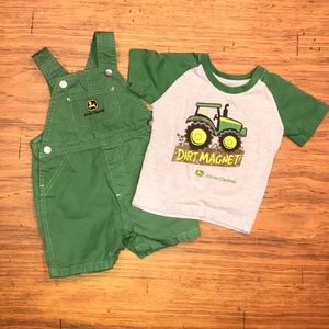 John Deere Other - Boys 18M John Deere Overall Set
