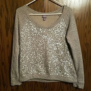 Vanity Tops - Sequined Sweatshirt