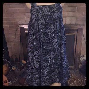 Dresses & Skirts - Mixtape cassette print babydoll jumper dress NWT