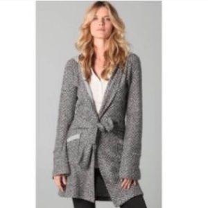 Nightcap Sweaters - Nightcap Herringbone Knitted Belted Cardigan 4 XL