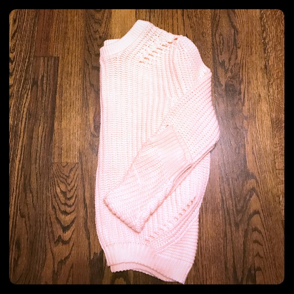 Divided Sweaters   Effortlessly Chic Pink Crop Knit Sweater   Poshmark 6c4ea4b40a