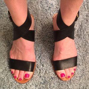 Black leather Dolce Vita sandals