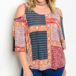 Tops - Coming soon!! Plus size cold Shoulder Tunic
