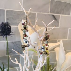 Jewelry - Artsy Wire and Bead Earrings