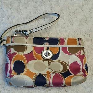 Coach  Handbags - Coach Gallery Optic Wristlet