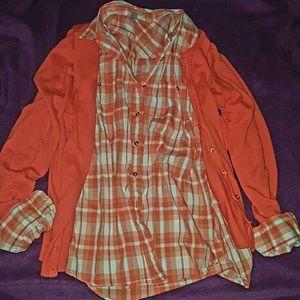 kohls   Tops - EUC! Cotton Flannel top