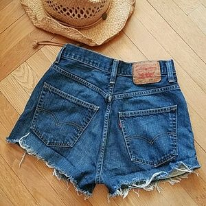 Levi's Pants - Levi's 569 high waisted cut off shorts
