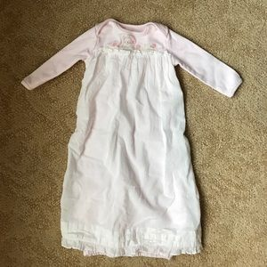 Bunnies by the Bay Other - Pale pink baby gown