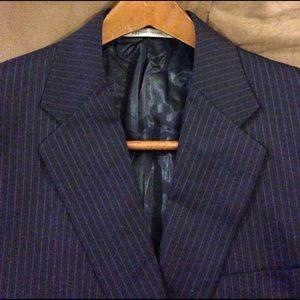 Hickey Freeman Other - Hickey Freeman Navy Pinstripe Suit Coat 39R
