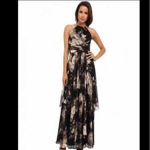 ✅ Eliza J Floral Print Chiffon Maxi Dress