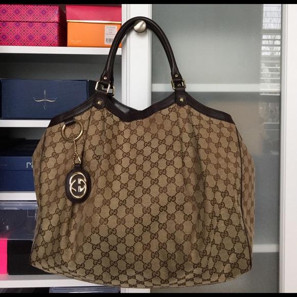 5b37330fae9 Gucci Handbags - Large Gucci Sukey tote.