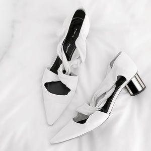 Proenza Schouler Shoes - FINAL FLASH-Proenza Schouler Suede Mirror Low Heel