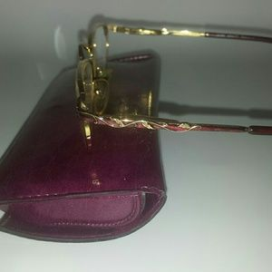 Laura Ashley Accessories - Laura Ashley Glasses, Gold and Burgundy Wire Frame