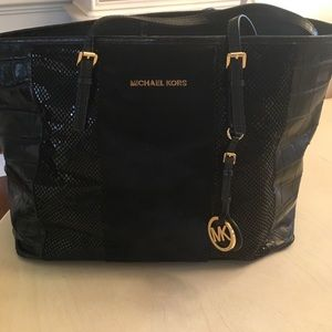 Michael Kors Large leather and haircalf tote