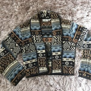 flashback Sweaters - Vintage Flashback Aztec print cardigan