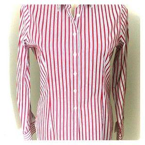Thomas Pink Tops - Thomas Pink striped collared shirt