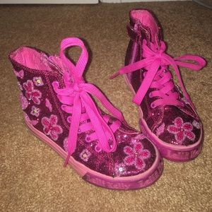 Lelli Kelly Kids Other - Lelli Kelly girls pink sequin high top shoes