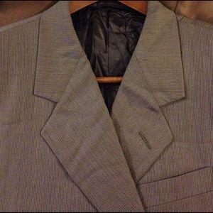 Hickey Freeman Other - Hickey Freeman Loro Piana Tan Stripe Suit Coat 42L