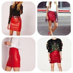 Zara Dresses & Skirts - Red Mini Skirt   Zara