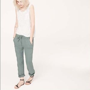 Lou & Grey Pants - Khaki Lou & Grey Linen Pants