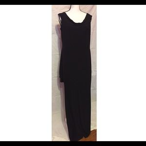Boohoo Plus Dresses & Skirts - BooHoo Plus long black dress W/ Mega Slit. 2x /20