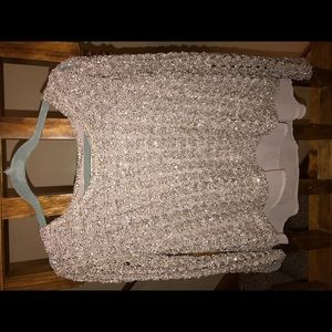 Ya Los Angeles blush sequin sweater