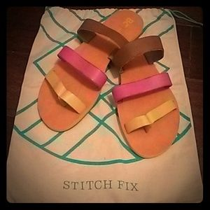 "BC Footwear Shoes - BC Footwear ""Peanut"" Multicolored Sandals"
