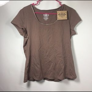 Route 66 Tops - Women's Large brown shirt Route 66