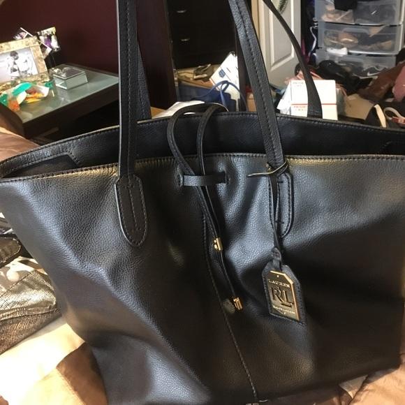 ef37bdb85038 Lauren Ralph Lauren Handbags - Ralph Lauren leather tote