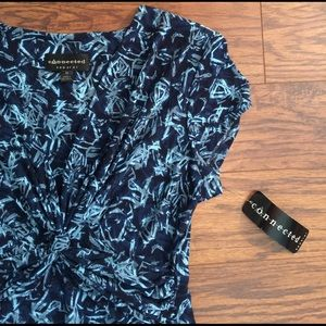 Connected Apparel Dresses & Skirts - NWT! Blue abstract swing dress