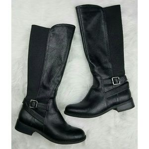 Nine West Shoes - Nine West Side Zip Up Riding Boots w/ Side Buckle