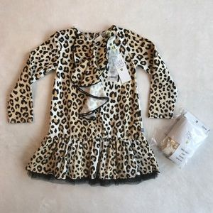 Petit Lem Other - Leopard Dress & Tights
