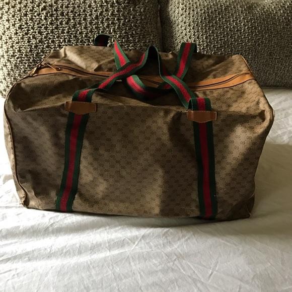 Gucci 1970s Gucci Monogram Duffle Weekender Bag fU5O0