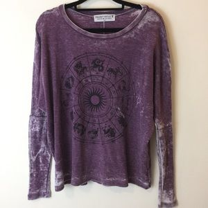 Urban Outfitters Tops - Project Social Astrological Sun Sign Purple Shirt