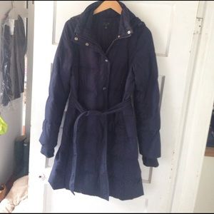 J.Crew Factory Long Belted Puffer Coat