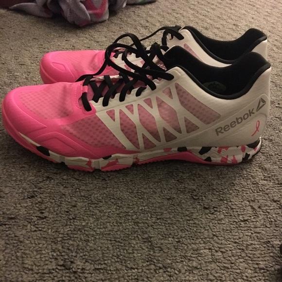 Breast Cancer Awareness Reebok Crossfit sneakers