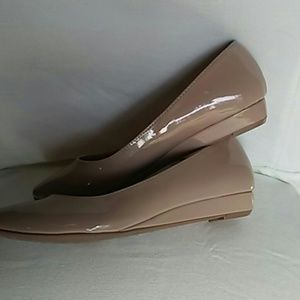 Chinese Laundry Shoes - Chinese Laundry Nude Patent Wedges