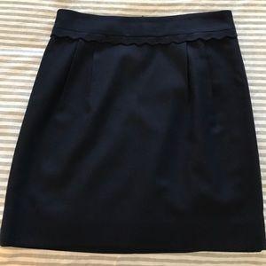 Jcrew navy mini skirt