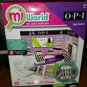 Other - mi world o.p.i nail salon cute dollhouse