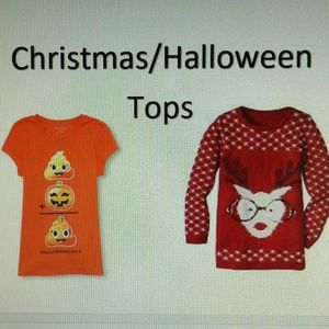 Tops - Christmas and Halloween Tops