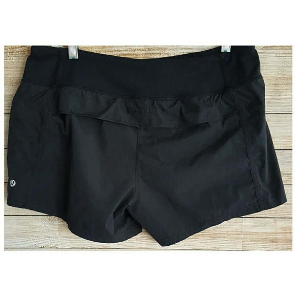 3db9ae8a5 lululemon athletica Pants - Lululemon Running Shorts Black Liner Pocket Sz  10