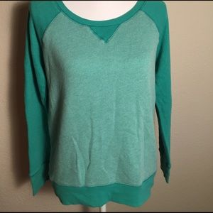 Caslon green sweatshirt. Size M