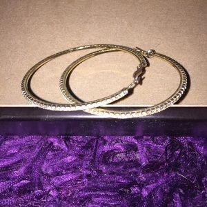 bebe Jewelry - Bebe gold hoop earrings
