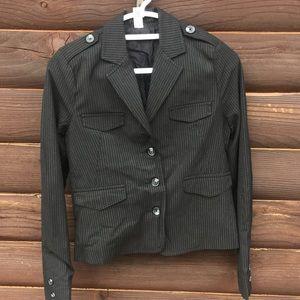 Old Navy B&W Pin Striped Blazer