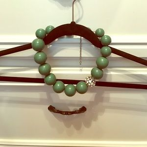 bauble bar Jewelry - Thick Green Ball Statement Necklace
