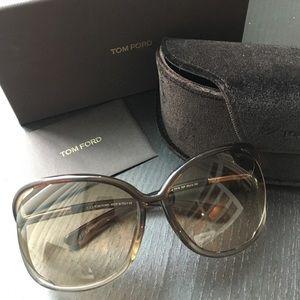 Tom Ford Raquel Oversized Open Side Sunglasses